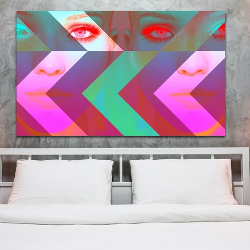 Madame Hollywood Graphic Art on Canvas