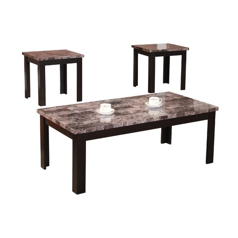 Andover Mills Cecil Marble Top 3 Piece Coffee Table SetReviews