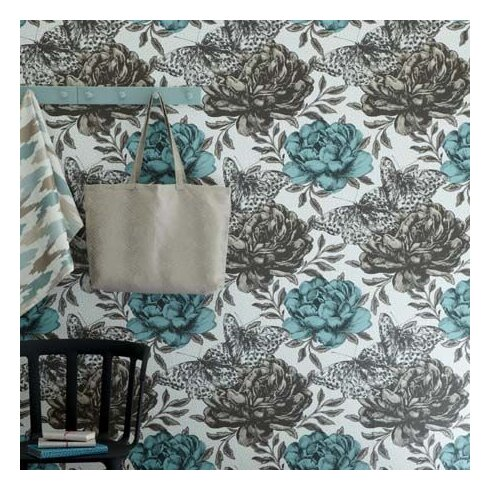 Floribunda 10.5m L x 52cm W Floral and Botanical Roll Wallpaper