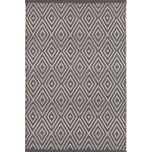 Diamond Graphite/Ivory Indoor/Outdoor Area Rug