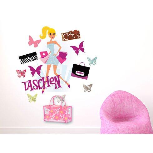 Garderobenhaken Taschen, Frau, Falter