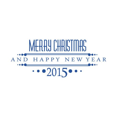 Wandtattoo Merry Christmas, 2015, Year