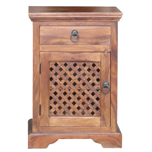 Kerala 1 Drawer Bedside Table
