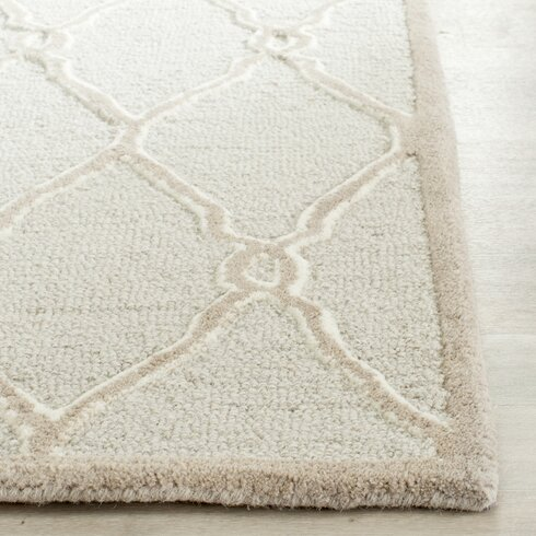 Albatross Hand-Tufted Light Grey Area Rug
