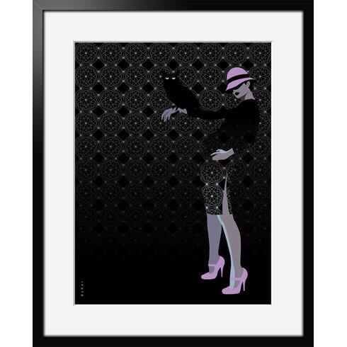 Hibou by Bahar Framed Graphic Art