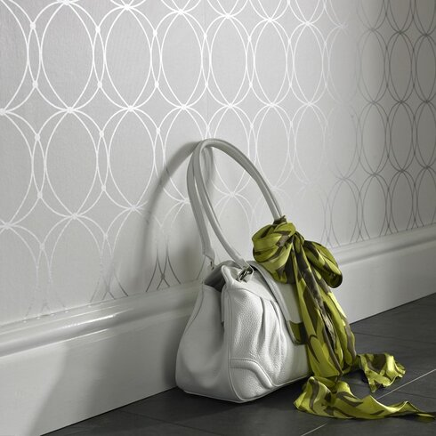 """Graham and Brown Wall Decor 33' x 20.5"""" Darcy Pearl Wallpaper Roll"""