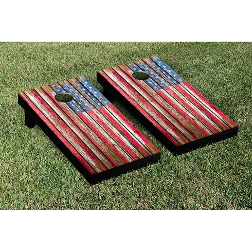 American flag cornhole board 4th of July Celebration