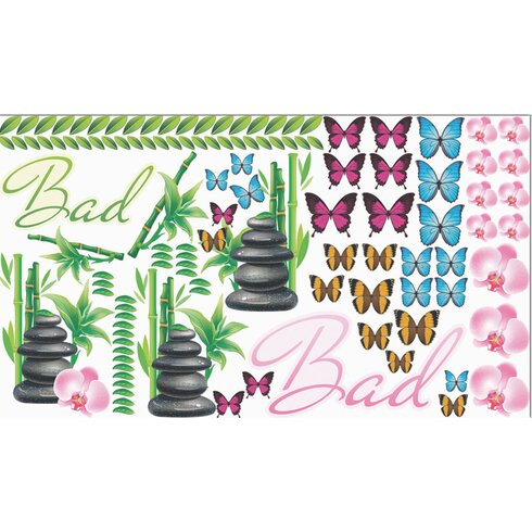 Glastattoo-Set Bad, Schmetterlinge