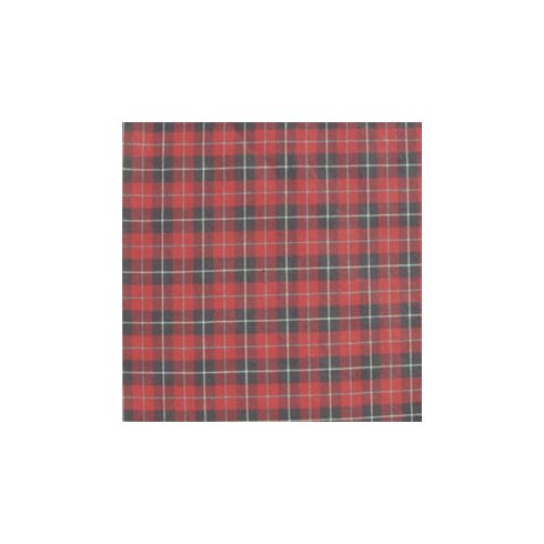 Red and Black Plaid White Lines Napkin