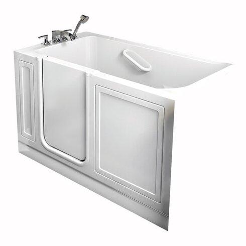 """Acrylic 51"""" x 30"""" Walk-In Air/Whirlpool Bathtub with Air Spa"""