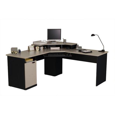 Bestar Hampton L Shape Executive Desk Amp Reviews Wayfair