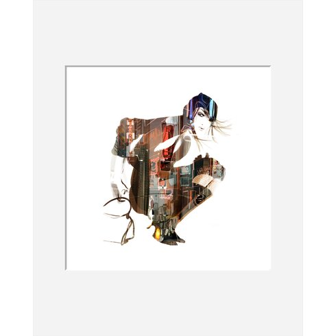 Urban Girl 01 by Sophie Griotto Framed Graphic Art