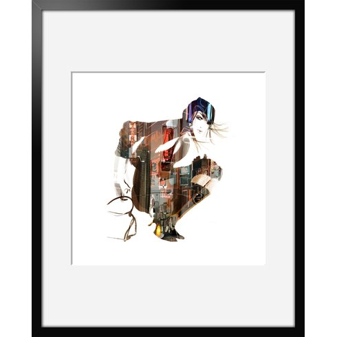 Urban Girl 01 by Sophie Griotto Framed Art Print