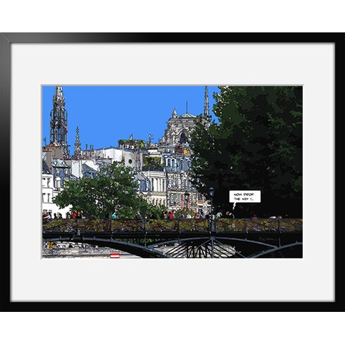 Les Amoureux by Philippe Matine Framed Graphic Art
