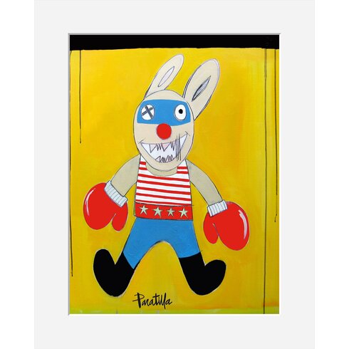 Super Rabbit by Paratilla Framed Art Print