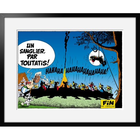 Le Banquet by Uderzo Framed Graphic Art