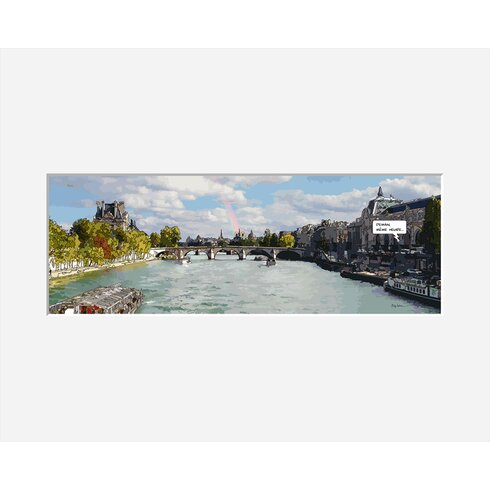 Pont Royal by Philippe Matine Framed Graphic Art