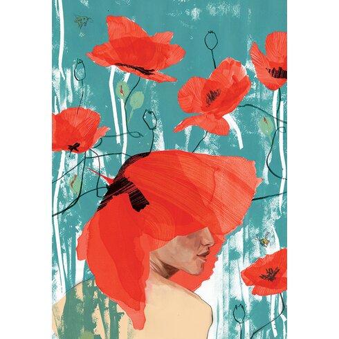 Poppy Crown by Klassen Art Print on Canvas