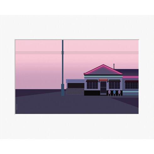 Pink Motel by Clément Dezelus Framed Graphic Art