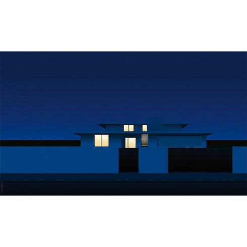 Suburban Night by Clément Dezelus Graphic Art on Canvas