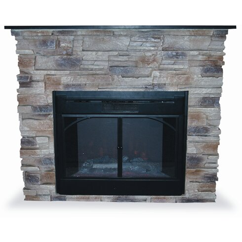 Stacked Electric Fireplace