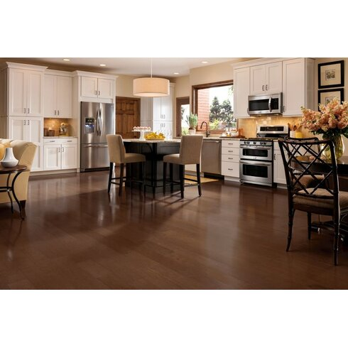 "5"" Engineered Maple Hardwood Flooring in Foliage Brown"
