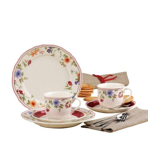 Cornwall Garden 18 Piece Porcelain Coffee Set