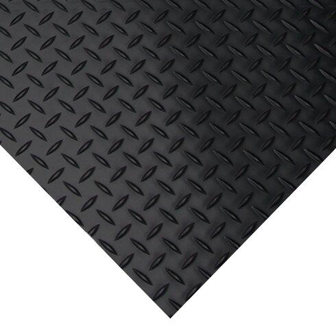 rubber flooring 4x10 ft roll garage gym black floor mat protector