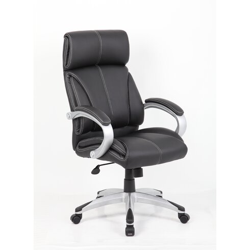 High-Back Leather Executive Chair