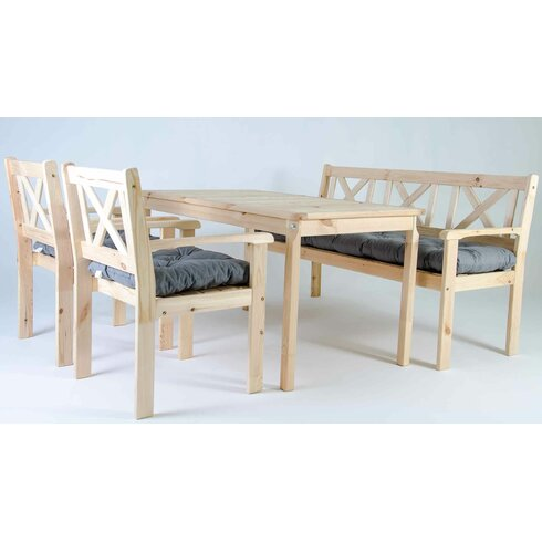 caracella 5 sitzer essgruppe evje mit polster. Black Bedroom Furniture Sets. Home Design Ideas