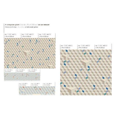 Ambiance 2.5m L x 95cm W Geometric Tile/Panel Wallpaper