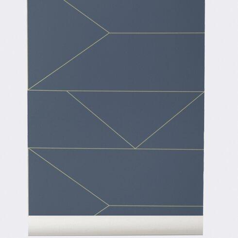 scantrends ferm living x wallsmart hand printed wallpaper roll reviews wayfair. Black Bedroom Furniture Sets. Home Design Ideas