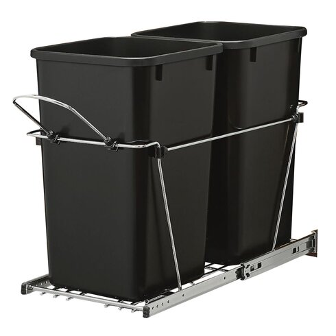 rev a shelf double roll 6 7 gallon pull out trash can reviews wayfair. Black Bedroom Furniture Sets. Home Design Ideas