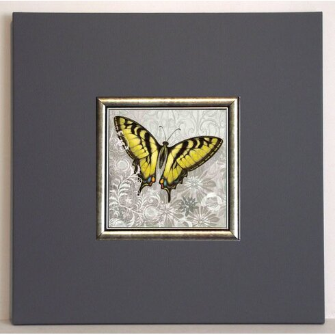 Yellow Butterfly III Framed Painting Print