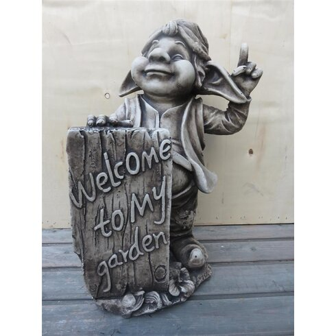 Welcome to My Garden Gnome Statue