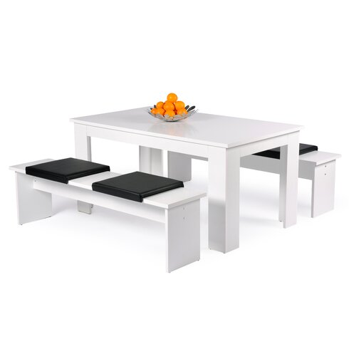 Milano Dining Set with 2 Benches