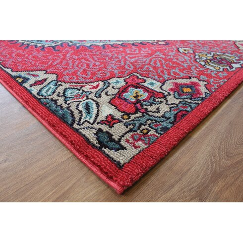 Colores Red Area Rug