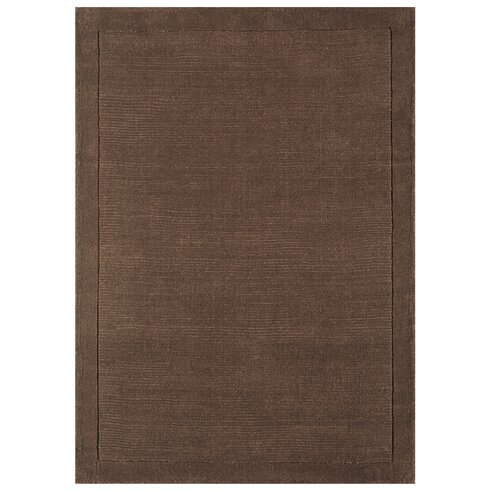 York Hand-Woven Chocolate Brown Area Rug