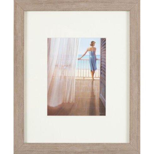 Frau auf der Terrasse Painting Print