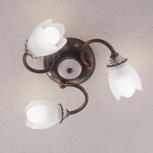 Catania 3 Light Semi Flush Ceiling Light