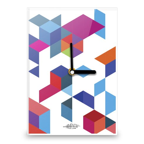 Boxes and Triangles Wall Clock