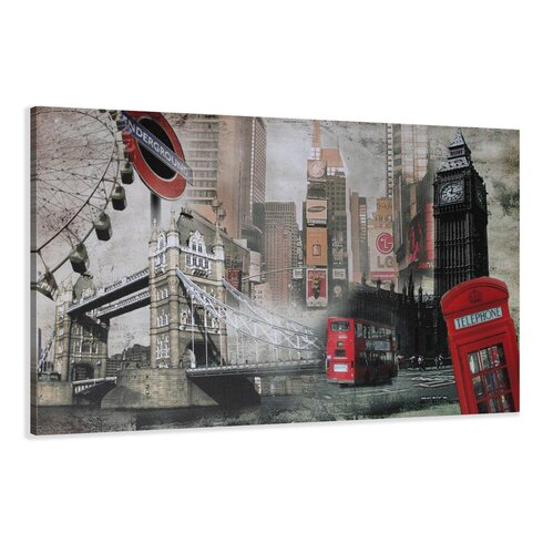 London Graphic Art Wrapped on Canvas