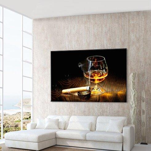 Cognac Photographic Print on Canvas