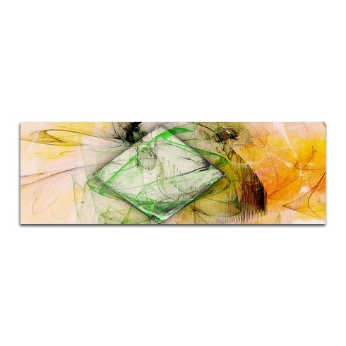 Enigma Panorama Abstrakt 321 Framed Graphic Print on Canvas