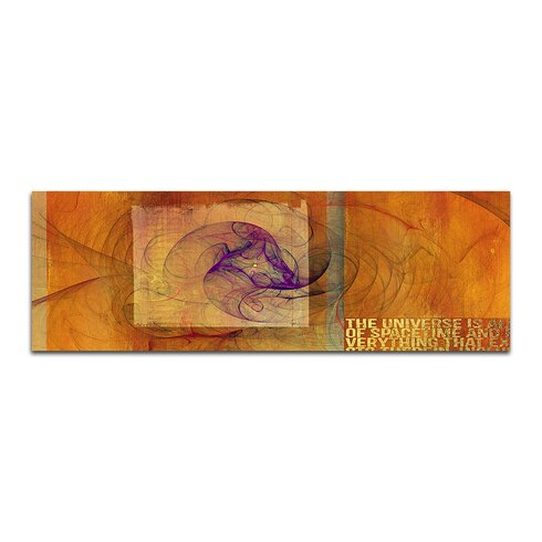 Enigma Panorama Abstrakt 152 Framed Graphic Print on Canvas