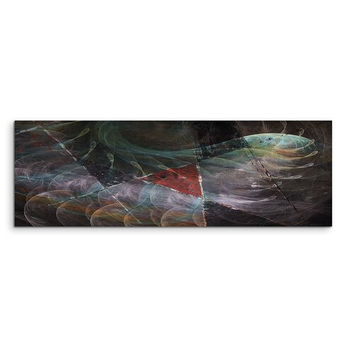 Enigma Panorama Abstrakt 1294 Framed Graphic Print on Canvas