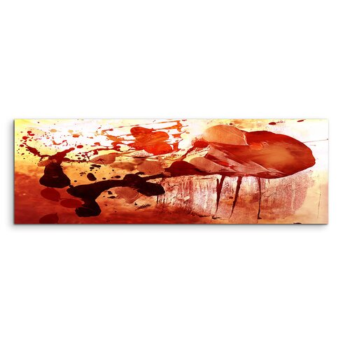 Enigma Panorama Abstrakt 837 Framed Graphic Print on Canvas