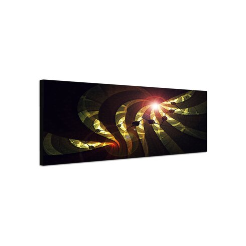 Enigma Panorama Abstrakt 35 Framed Graphic Print on Canvas