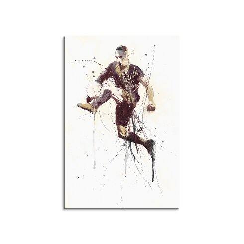 Franck-Ribery Enigma Framed Graphic Print on Canvas