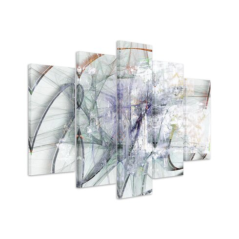 Enigma Abstract 1438 5-Piece Graphic Art on Canvas Set
